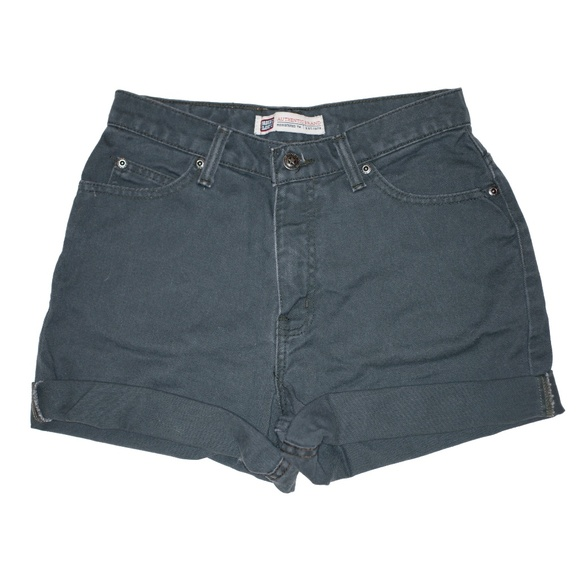 Faded Glory Pants - Vintage Gray High Waisted Rise Cuffed Shorts 25/26